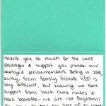 "Lauren Reisinger USMC ""Thank you Card"""